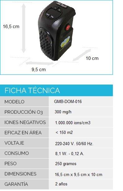 generador de ozono hogar y oficina desinfección GMB OZONE